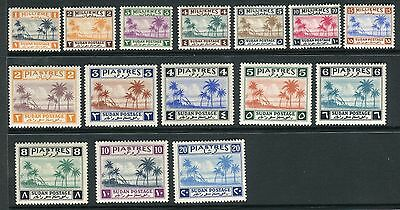 SUDAN-1941  A lightly mounted mint set to 20p Sg 81-95