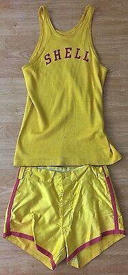 Antique 1940's Shell Gasoline Original Basketball Uniform Jersey + Shorts Maine