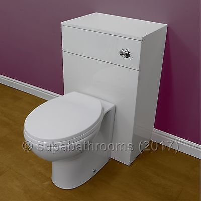 Back To Wall BTW Vanity Toilet Unit Laura WC Pan, Seat, Concealed Cistern