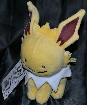 "7"" Ditto As Jolteon Poke Plush Standard # 135 Official Pokemon Center Dolls Toys"
