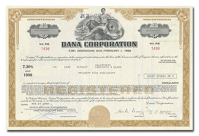 Dana Corporation Bond Certificate