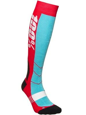 100 Percent Red Hi-Side MX Socks