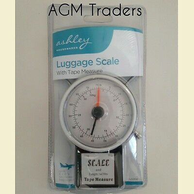 32kg Luggage Scales With 1M Tape Measure Fishing Bag Weighing Dial Case