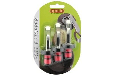 Apollo Pack of 3 Bottle Stoppers