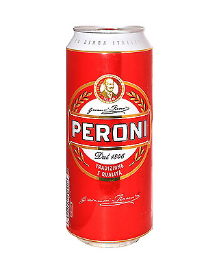 Peroni Red Lager Beer Cans 500mL case of 24