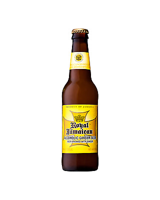 Royal Jamaican Alcoholic Ginger Beer 355mL case of 24 International Beer