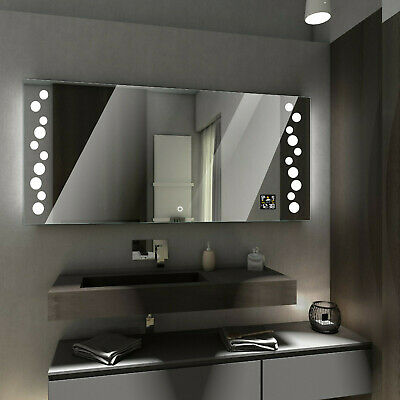 TORONTO LED Illuminated Bathroom Mirror with WEATHER Station and TOUCH Switch