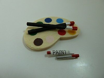 Dolls House Miniature 1:12th Scale Nursery School Accessory Artist Pallet D1078