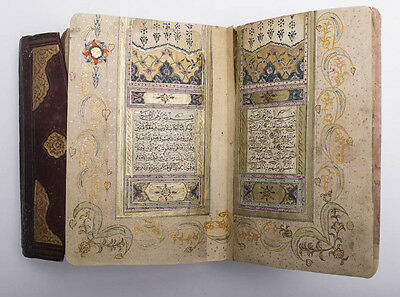 Highly Illuminated Arabic Manuscript. Complete Koran, Signed and Dated. About 30
