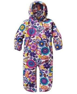 Patagonia Snowsuit Synch Bunting Fleece Infant Baby 0-3 months Floral Multi Colo
