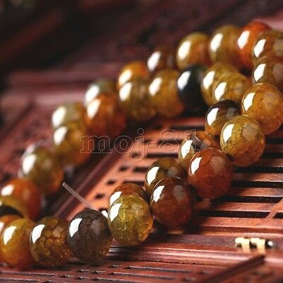 10mm Natural Multicolor Dragon Veins Agate Round Gemstone Loose Beads 15'' AAA