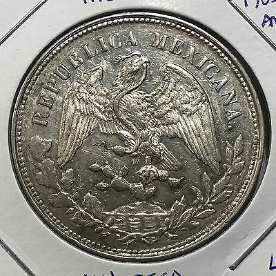 Mexico 1903 A.m.  Silver Un Peso Beautiful Crown Coin