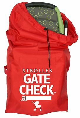 J.L. Childress Gate Check Bag For Standard and Double Strollers Red