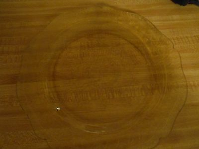 "Tiara Indiana Sandwich Glass Amber 11"" Platter Depression Glass"