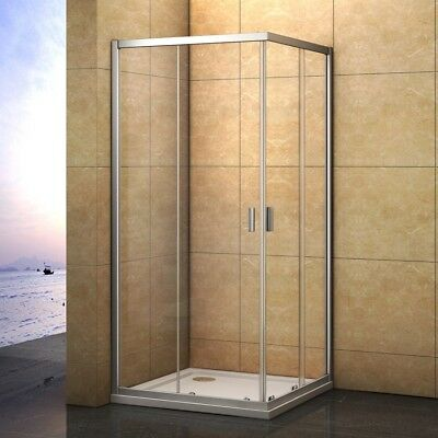 Corner Entry Shower Enclosure Tray Sliding Door Safety Glass Cubicle760 800 900
