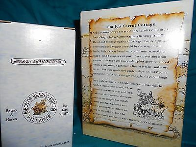 Boyds Bearly Built Villages Emily's Carrot Cottage #19014 PE NIB w/accessories