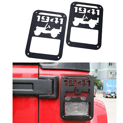 Tail Light Covers Rear Guards Pair For Jeep Wrangler JK Unlimited Accessories #B