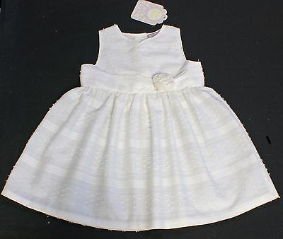 Dizzy Daisy baby dress girl IVORY occasion christening 6-12 months