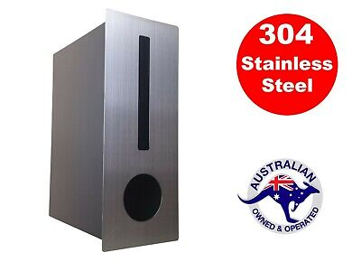 Stainless Steel Letterbox Rectangle Fence Wall Mount Brick Wall Silver Mailbox