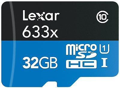 Lexar 32 GB - High-Performance Scheda MicroSDHC, 633x, UHS-I, Adattatore SD Incl