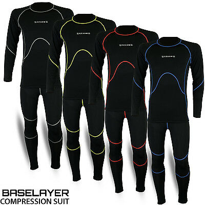 Mens Compression Thermal Base Layer Tights Shirt Under Full Suit Pant 4 Colors