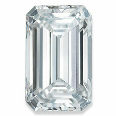 1.01CT Forever One Emerald Cut Moissanite Loose Stone Charles and Colvard 7x5MM
