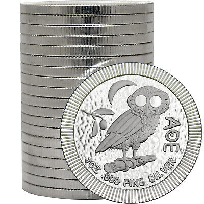 2019 Niue Silver Owl of Athena Stackables 1oz .999 Silver Coin 20pc