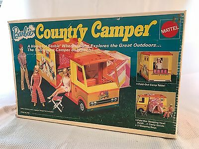 Vintage Mattel Barbie Country Camper RV Vehicle Van Original Box w/ Accessories
