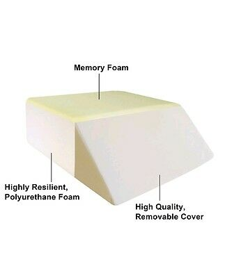 Two Layer Design Memory Form Bed Wedge Leg Positioner Pillow Elevate Leg Rest