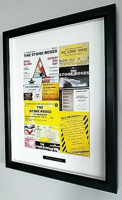 Stone Roses Framed Original Programme-Certificate-Rare-Ian Brown-Spike Island