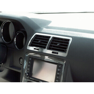 5pc Brushed Stainless Steel A/C Vent Trim for 2008-2014 Dodge Challenger SRT8