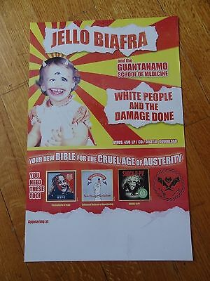 Jello Biafra Poster Promo collectible 11 x 17 dead kennedys