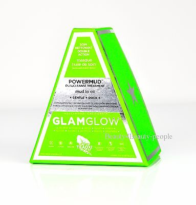 GlamGlow PowerMud Dual Cleansing Hydrating Clay Mask Treatment 50g New In Box