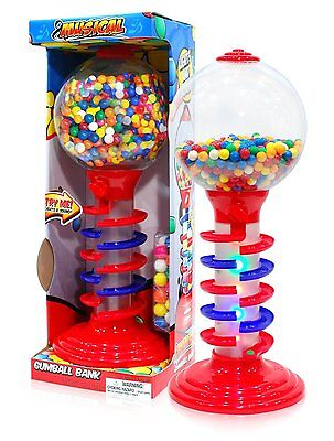 Sweet N Fun Light and Sound Spiral Gumball Bank with 340G Gumballs, 21""