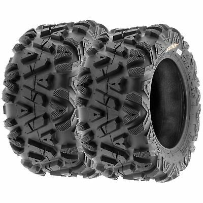 Pair of 2 SUNF 22x10-12 22x10x12 ATV UTV Tires / 6PLY Rated A033