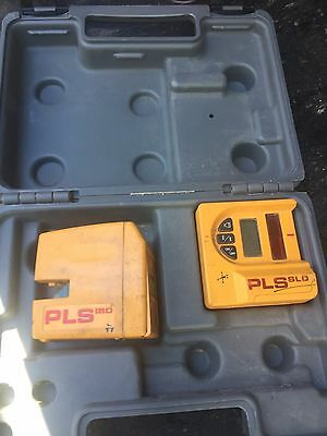 PLS 180 laser level & PLS SLD, plumb level &square w/case