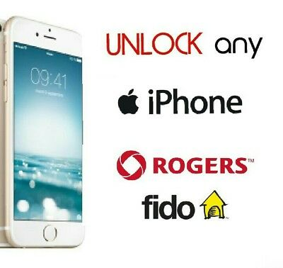 Rogers Fido Canada Unlock iPhone 8+ 8 7+ 7 6+ 6 5s 5c 5 4s 4 less than 24 hours