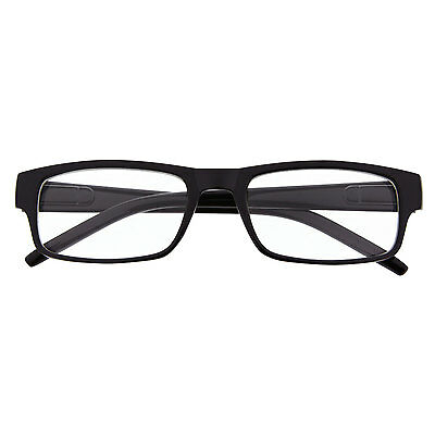 b7107ec535a Rectangle Black Unisex Glasses Non-Rx Mens Womens Clear Lens Nerd Geek  Eyewear