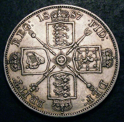 1887 Double Florin  CGS  ALL letter in JEB Double Struck. Rare
