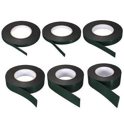 10m Strong Waterproof Adhesive Double Sided Foam Black Tape For Car Home Trim