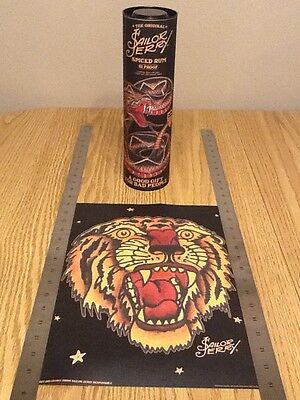 "2016 Sailor Jerry Spiced Rum Mini Poster / Print with Canister ""Tiger"""