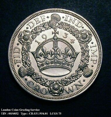 1934 Crown  Only 932 minted  LCGS CGS Slabbed & Guaranteed  a/UNC    MS62/MS63