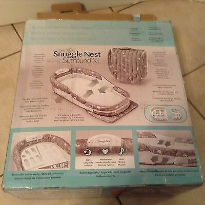 Baby Delight Snuggle Nest Surround Extra-Long Portable Infant Sleeper in Silver