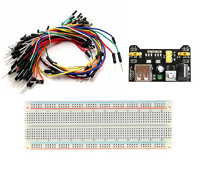 *MB-102 830 Point Prototype PCB Breadboard+65pcs Jump Cable Wires+Power Supply*