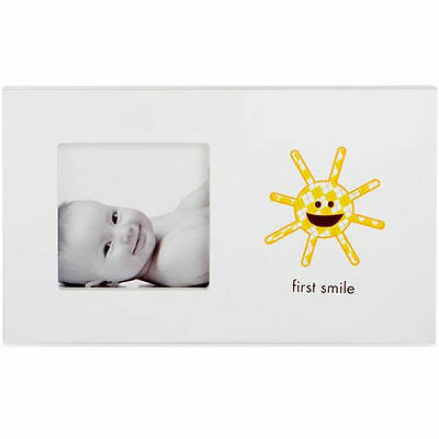 NEW Pearhead Baby's First Smile White Photo Frame