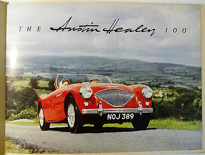 1954 Austin Healey 100 BN1 Original Sales Brochure BMC Donald Healey Motor