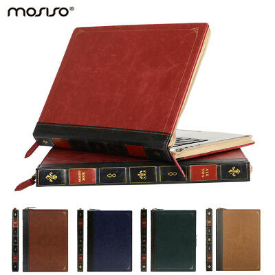 Mosiso for Macbook Air Pro 13 15 PU Leather Sleeve Case Cover Vintage