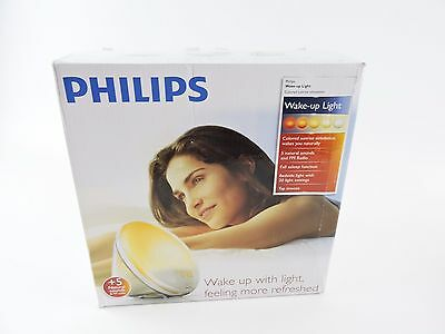 Philips HF3520 Wake-Up Light Colored Sunrise Simulation - New Open Box Display