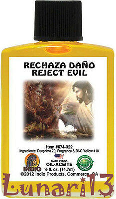 Reject Evil, Rechaza Daño, Oil, Indio Products, 1/2 oz, Lunari13, Wicca, Magick