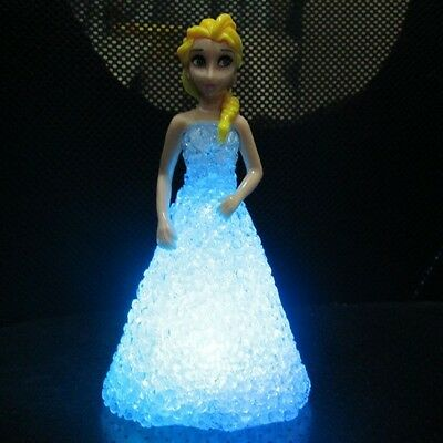 7 Color Fun Cute Frozen Figures Changing Night Light Lamp Kids Children Baby Toy